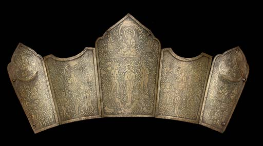 A PERSIAN STEEL CUIRASS OF FIV