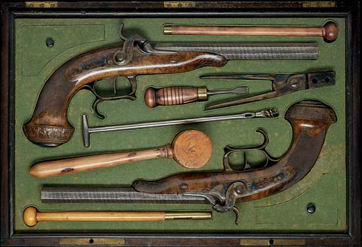 A FINE FRENCH CASED PAIR OF PE