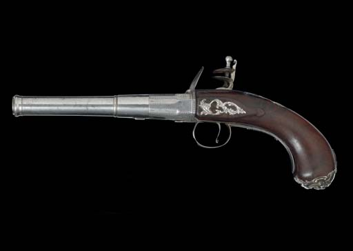 A SILVER-MOUNTED FLINTLOCK TUR