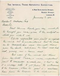 SIR ERNEST HENRY SHACKLETON (1874-1922)