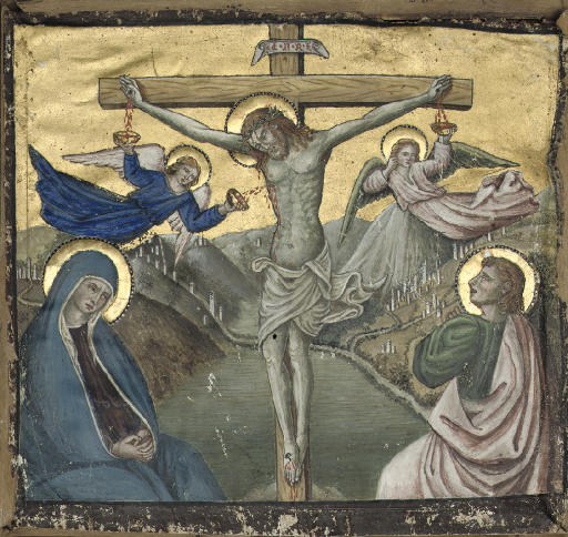 CHRIST ON THE CROSS BETWEEN TH