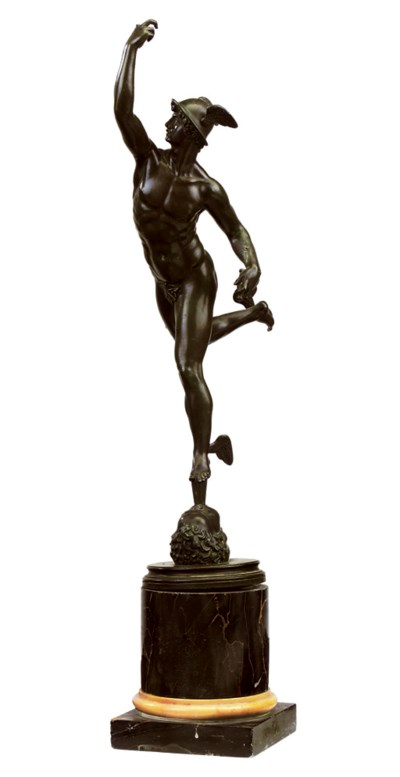 AN ITALIAN BRONZE FIGURE OF ME