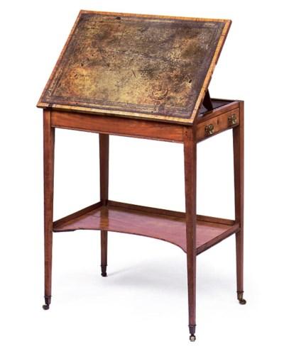 A GEORGE III SATINWOOD WRITING
