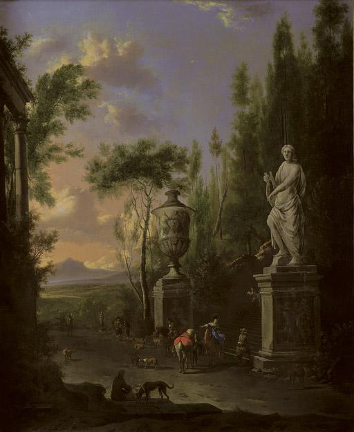 Frederik de Moucheron (Emden, Germany, 1633-1686 Amsterdam) and Adriaen van de Velde (Amsterdam 1636-1672)