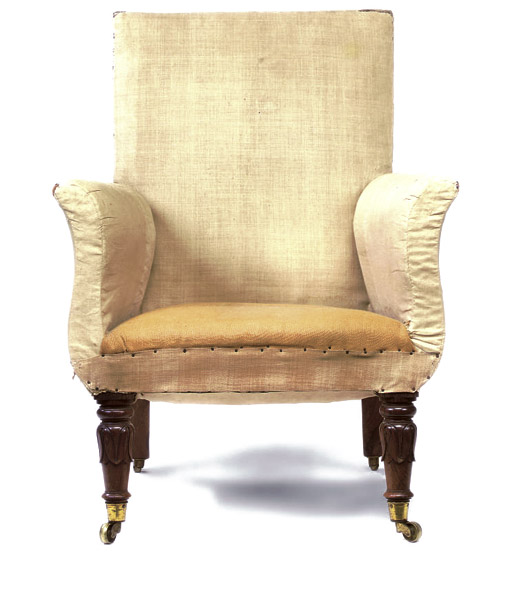 A GEORGE IV ROSEWOOD LIBRARY BERGERE