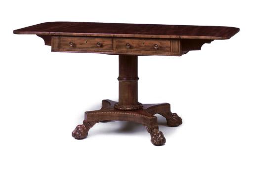 A SCOTTISH GEORGE IV MAHOGANY SOFA TABLE
