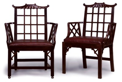 A PAIR OF CHINESE EXPORT PADOU