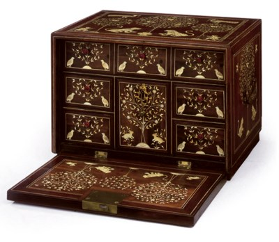 AN INDO-POTUGUESE IVORY-INLAID