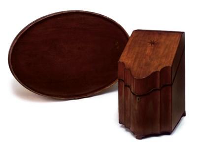 A SCOTTISH SATINWOOD KNIFE BOX