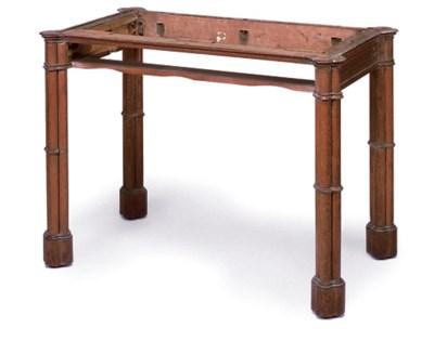 A REGENCY OAK WASHSTAND  TABLE