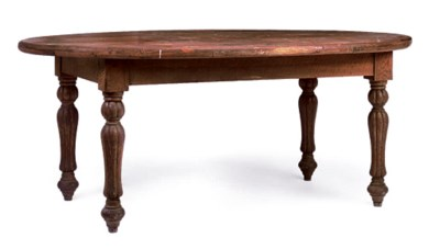 A WILLIAM IV PINE AND OAK TABL