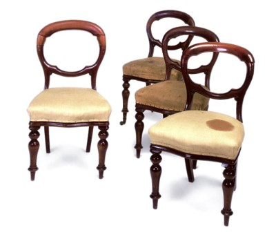 A SET OF FOUR MID-VICTORIAN MA