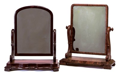 TWO EARLY VICTORIAN MAHOGANY T