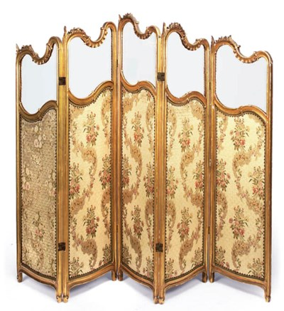 A LATE VICTORIAN GILTWOOD FIVE