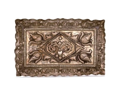 A PORTUGESE SILVER PIN-TRAY