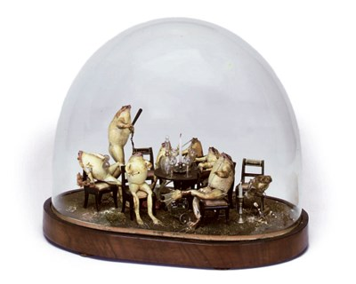 A VICTORIAN TAXIDERMY GROUP OF