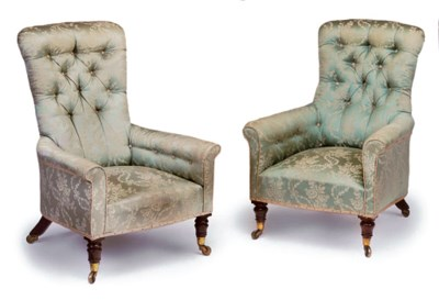 A NEAR PAIR OF EARLY VICTORIAN
