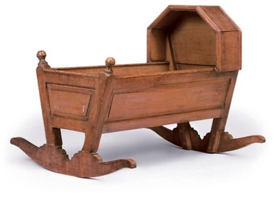 A LATE VICTORIAN DEAL CRADLE