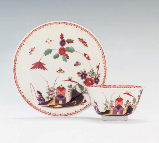 A MEISSEN CHINOISERIE TEABOWL
