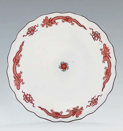 A MEISSEN RED-DRAGON PATTERN P