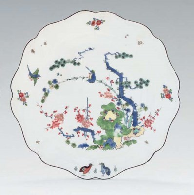 A MEISSEN KAKIEMON SHAPED OCTA