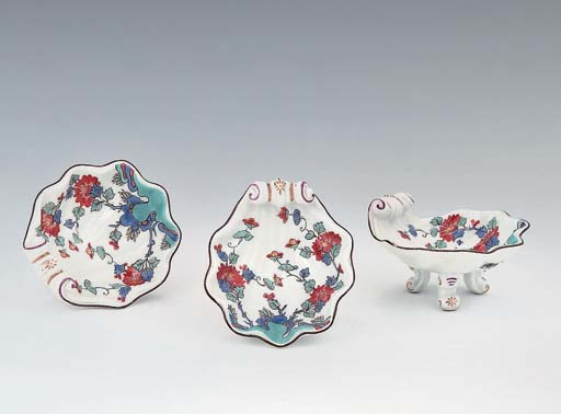 FOUR MEISSEN KAKIEMON SHELL-SH