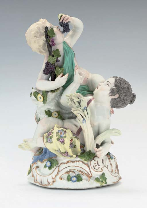 A MEISSEN GROUP OF EMBLEMATIC