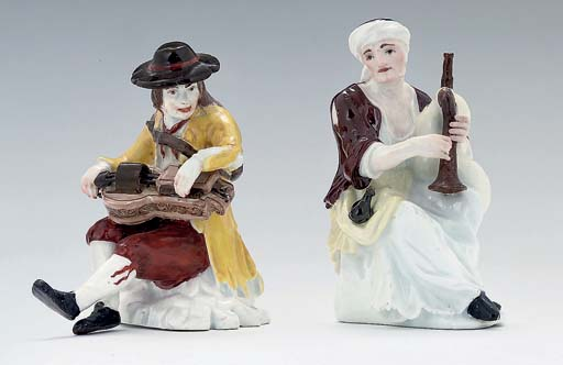 TWO MEISSEN FIGURES OF BEGGAR