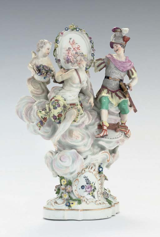 A MEISSEN GROUP OF MARS AND VE