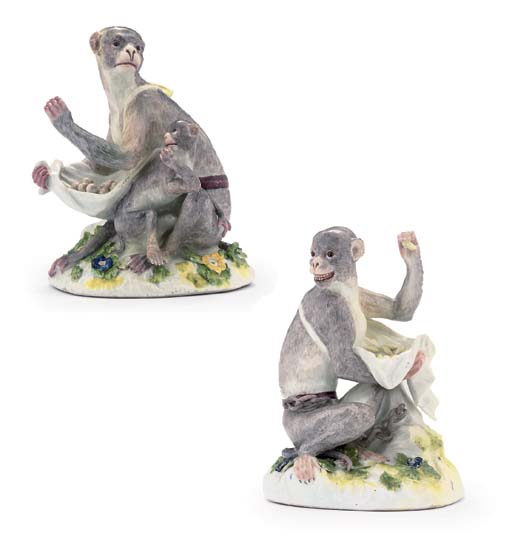 A PAIR OF MEISSEN MODELS OF MO