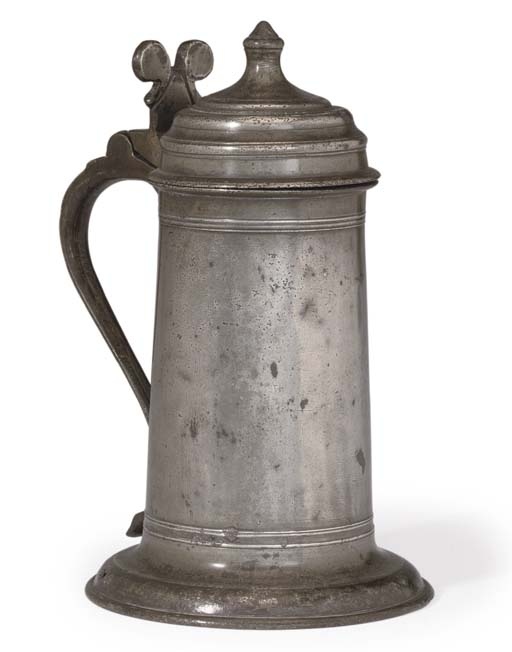 AN ENGLISH TRANSITIONAL PEWTER