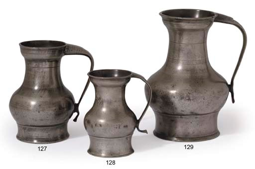 A SCOTTISH POT-BELLIED PEWTER