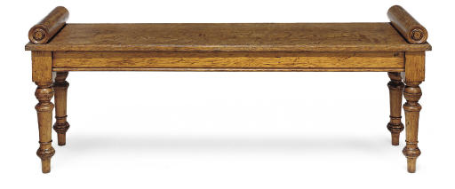 A GEORGE IV OAK HALL BENCH
