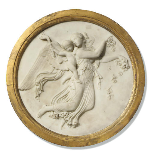 A MARBLE BAS-RELIEF ROUNDEL OF