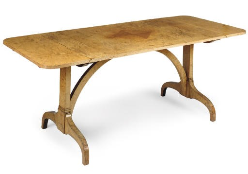 A WILLIAM IV MAPLE SOFA TABLE
