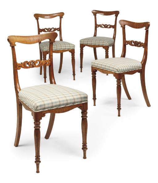 A SET OF FOUR EARLY VICTORIAN