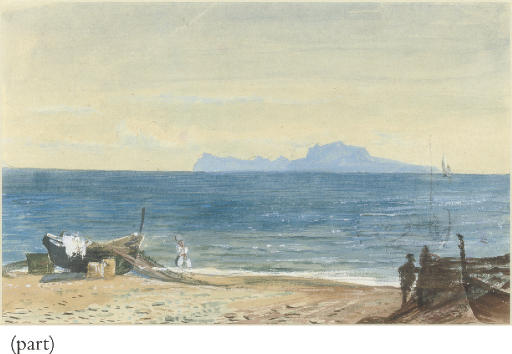View of Capri from the Bay of Naples