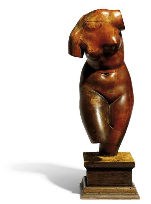 A PATINATED COMPOSITION FIGURE