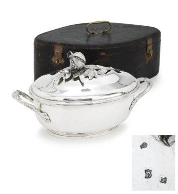 A LOUIS XV SILVER TUREEN AND C