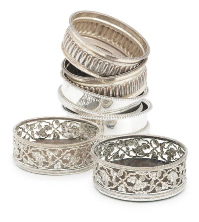 THREE PAIRS OF SILVER-PLATED W