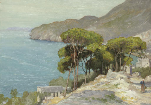 Pine trees by the coast, Levanto