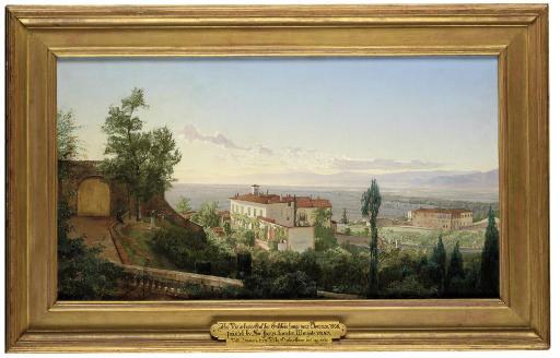Villa Limonaia from Villa Ombrellino, Bellosguardo, near Florence