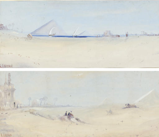 In the desert; and The Pyramids