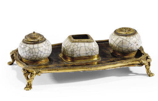 A LOUIS XV STYLE ORMOLU AND CE