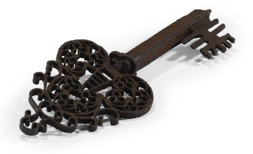 AN ITALIAN WROUGHT-IRON LOCKSM