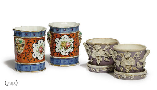 A PAIR OF FRENCH PORCELAIN CAC
