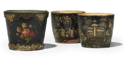 A PAIR OF FRENCH POLYCHROME CH