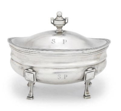 AN ITALIAN SILVER BOWL AND COV