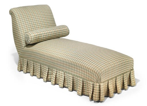 AN UPHOLSTERED DAYBED