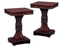 A PAIR OF GEORGE IV MAHOGANY OCCASIONAL TABLES